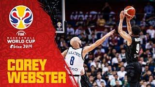 世界盃籃賽  預賽得分王 Corey Webster(場均25分)