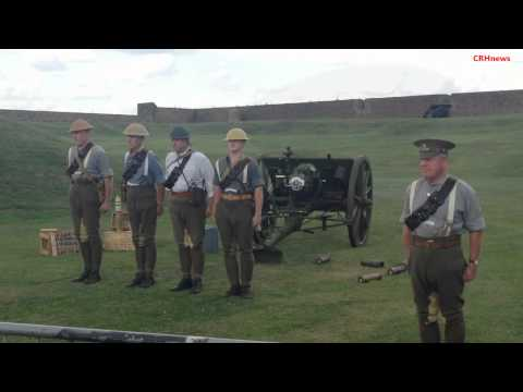 CRHnews - Eighteen pounder blasts Tilbury Fort during WWI Centenary