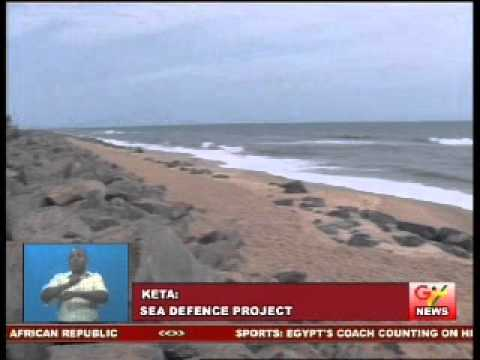 President Inspects Sea Defence