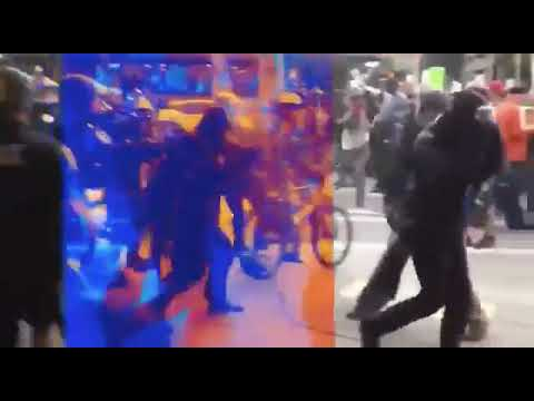 ANTIFA Challenge Police in Seattle