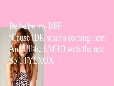 TTYLXOX - Bella Thorne (Lyrics On Screen and Download Link)