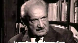 """Documentaire """"Martin Heidegger: En chemin dans la pensée"""", 1975"""