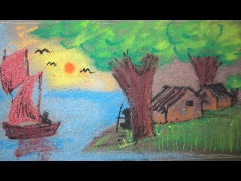 How To Draw Nature Rangoli