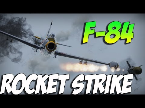 War Thunder F-84 Jet Gameplay-  This Planes WORTH IT!