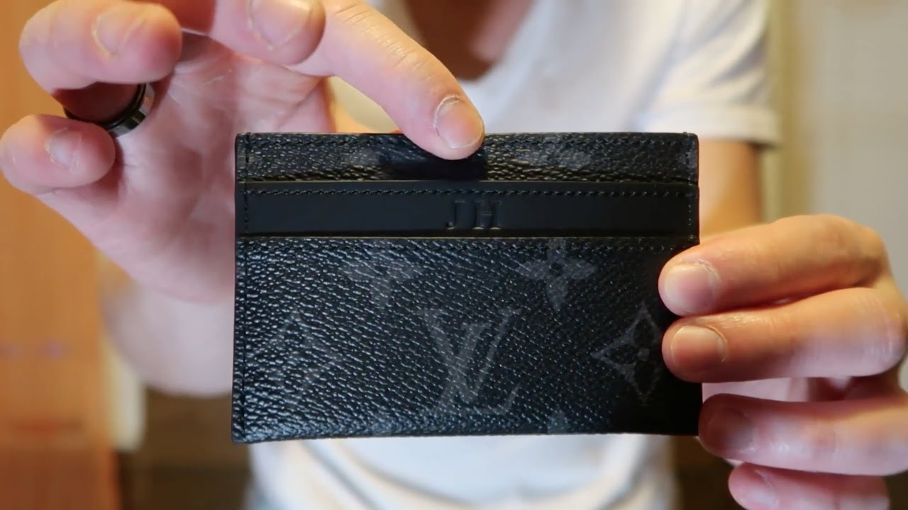Louis vuitton unboxing porte cartes double monogram for Double porte