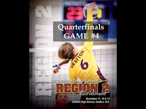 2019 ND Class B Region 2 Volleyball Tournament-Quarterfinals - 4th Game