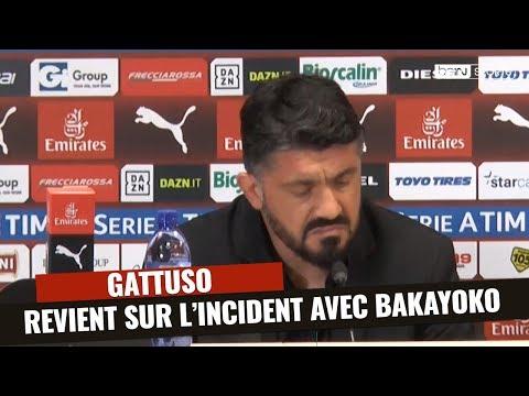 Milan : Gattuso revient sur l'incident avec Bakayoko