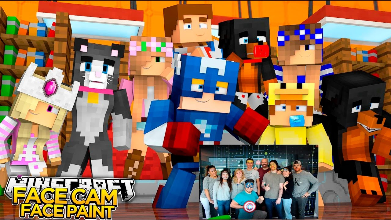 Minecraft facecam face paint little club little baby - The little club ...