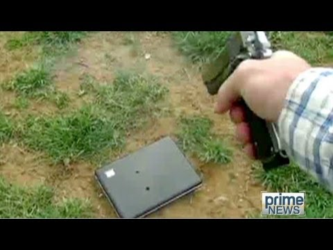 Dad shoots daughter's laptop with gun