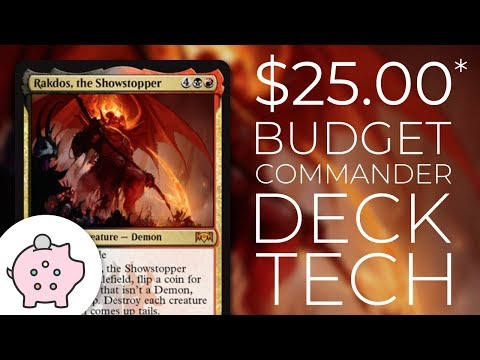 Rakdos, the Showstopper | EDH Budget Deck Tech $25 | Tribal | Magic the Gathering | Commander