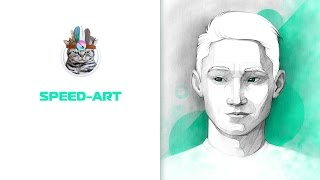 Рисунок карандашом в программе Krita  (Speed-Art )