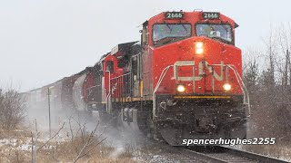 Trains: Cn Freight In Canada Snow
