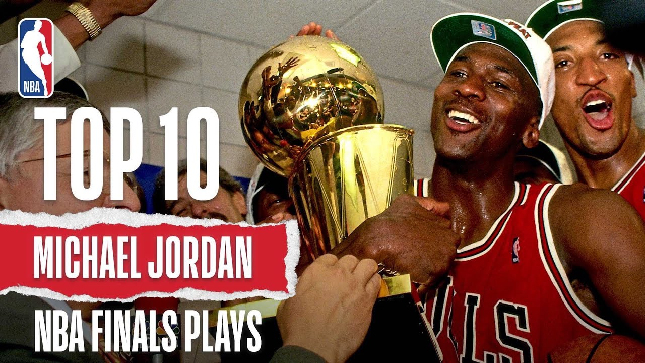 5781f600ea1 Michael Jordan s Top 10 Plays  Career Finals - YouTube