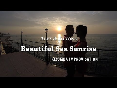 Kizomba Dance Improvisation - Beautiful Sea Sunrise - Alex & Alyona