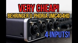 Behringer U-Phoria UMC404HD REVIEW + TEST!