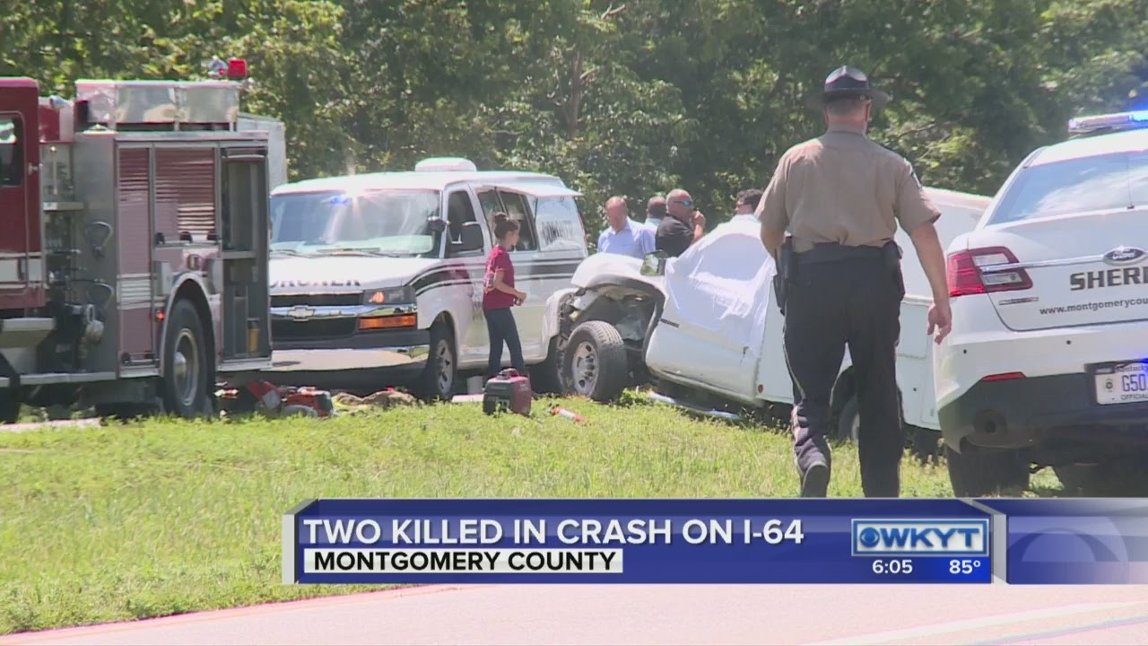 Double fatal accident on I-64 Eastbound