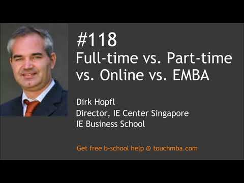 Full-time vs. Part-time vs. Online vs. Executive MBA – Which is the Right MBA for You?