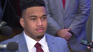 Alabama QB Tua Tagovailoa talks Heisman Trophy in NYC