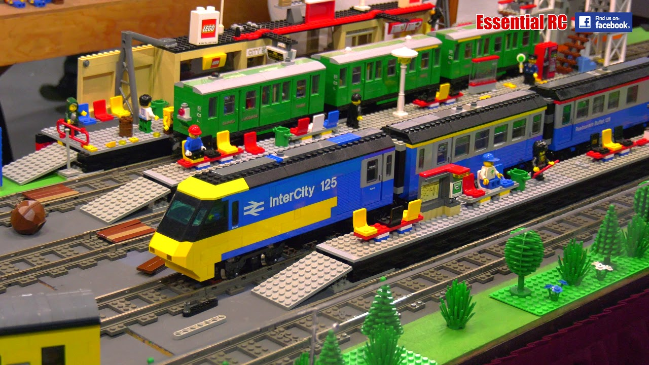 Model RAILWAY TRAINS in ACTION: IAN'S BRITISH LEGO RAILWAY