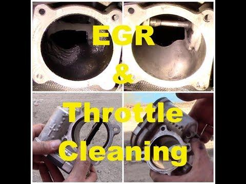 EGR & Throttle body cleaning on Volvo Diesel engine 2.4D