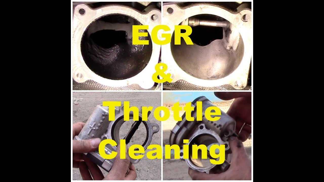 EGR & Throttle body cleaning on Volvo Diesel engine 2 4D