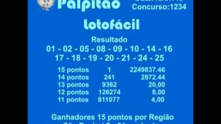 LOTOFACIL CONCURSO 1234  13072015