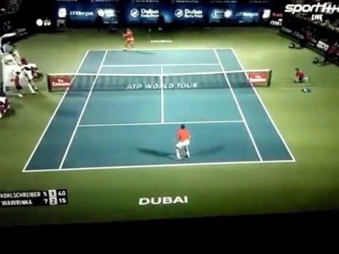 Dubai, quarterfinal, hard, 2016 Wawrinka vs Kohlschreiber