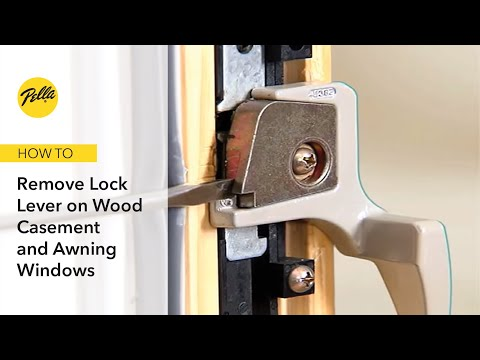 Removing Lock Lever on Wood Casement and Awning Windows