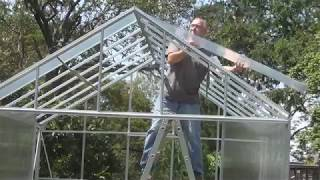 Installing Harbor Freight Greenhouse Panels