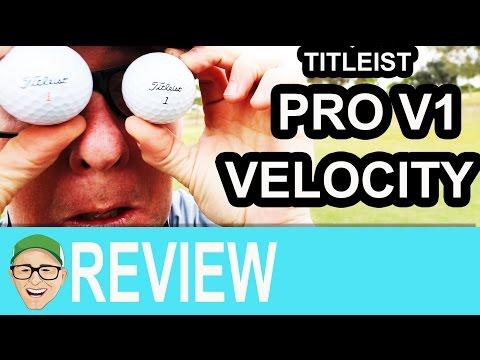 Titleist Pro V1 Titleist Velocity Ball Test