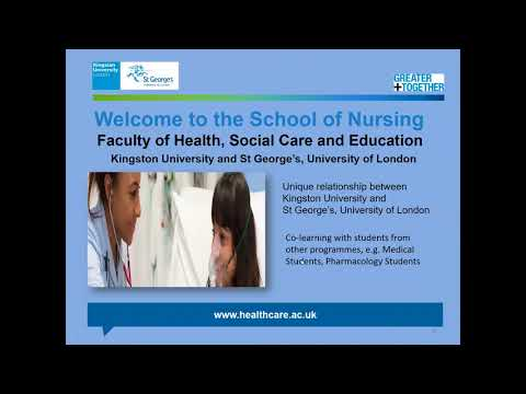 Nursing courses at Kingston University – a webinar