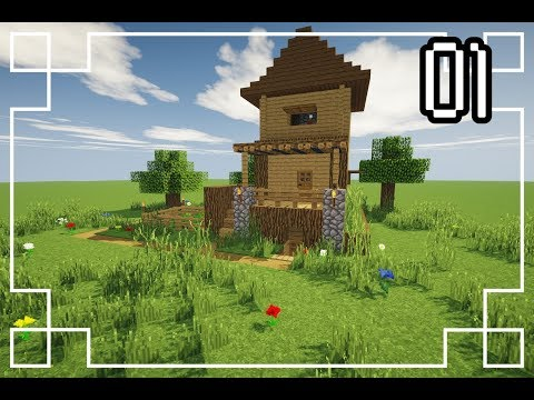 ✔[Minecraft] : How To Make A Starter House | Survival House #1