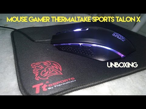 Unboxing Mouse Gamer Thermaltake Sports Talon X