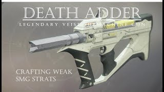 Destiny 2 - Death Adder - First Plays with Veist SMG - PVP Gameplay Review