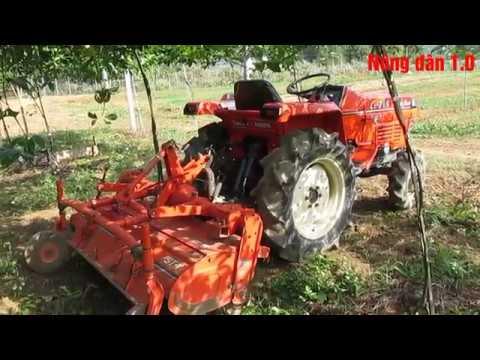 Hướng dẫn chức năng tự cân bằng giàn xới đất. KUBOTA 215