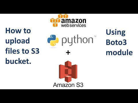How to Upload files to AWS S3 using Python and Boto3 - YouTube