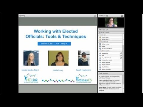 Policy Development Series 3: Working with Elected Officials: tools and techniques