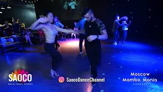 Ernesto Bulnes, Denisse A. Cambria and Jay Lee Salsa Dancing, 2nd Moscow MamboMania weekend 08.03.19
