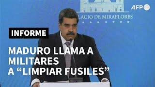Maduro llama a sus militares a