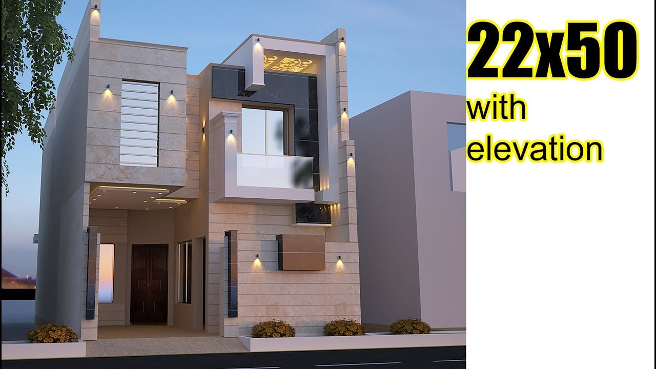 22x50 House Plan With Front Elevation Duplex House Plans Model House Plan Duplex House Design