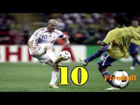 Battle between Zidane and Ronaldinho    Top 10 Goals