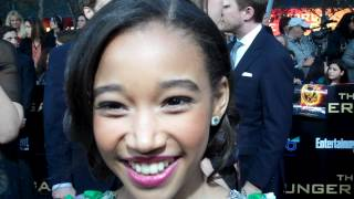 "Amandla Stenberg at ""The Hunger Games"" world premiere"