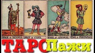 ТАРО Младшие арканы ПАЖИ (жезлов, кубков, мечей, пентаклей)
