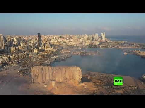 لقطات جوية توثق آثار دمار انفجار هائل يهز بيروت  - نشر قبل 1 ساعة