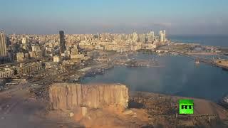لقطات جوية توثق آثار دمار انفجار هائل يهز بيروت