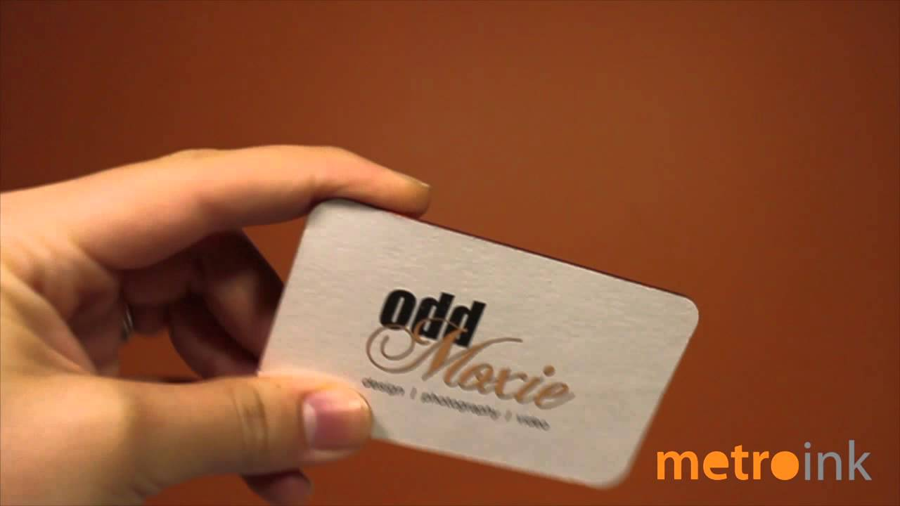 Metroink 45pt Cotton Business Card With Letter Press Copper Foil ...