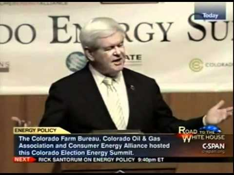 Newt Gingrich speaks at the Colorado Energy Summit. Excellent Speech Real Solutions 2012