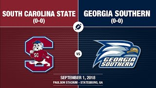 2018 Week 1 - South Carolina State at Georgia Southern