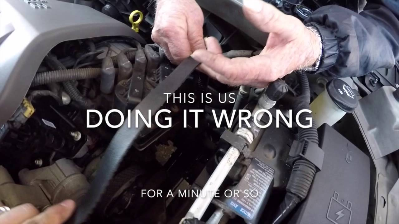 Putting New Belt On 2003 Buick Lesabre Youtube