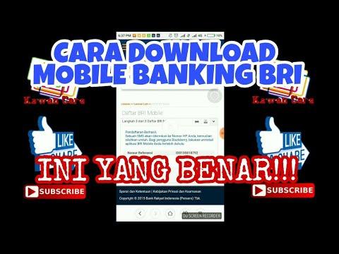 CARA Download Mobile Banking BRI (Internet Banking+Sms Banking) Resmi yg benar, bukan via Playstore